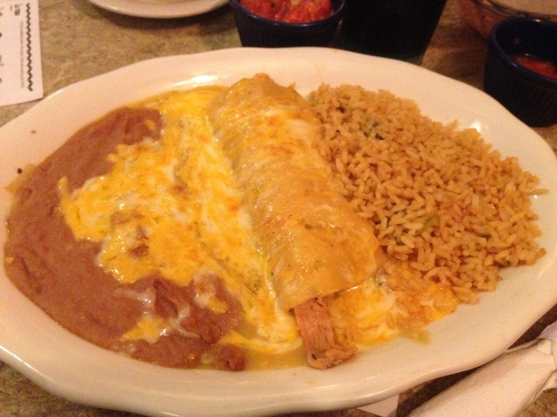 Chicken Enchilada lunch portion